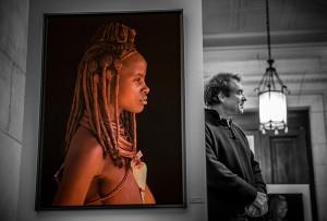 Patrick de Wilde at his own Paris exhibition
